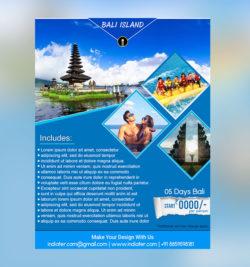Bali island travel flyer