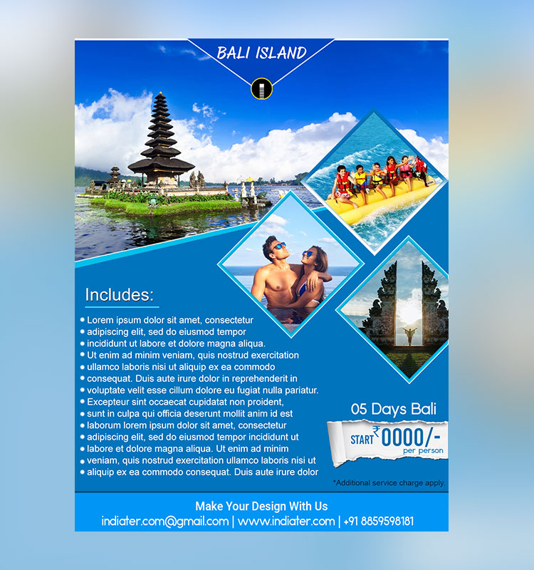 Bali Island Travel Flyer Template Indiater