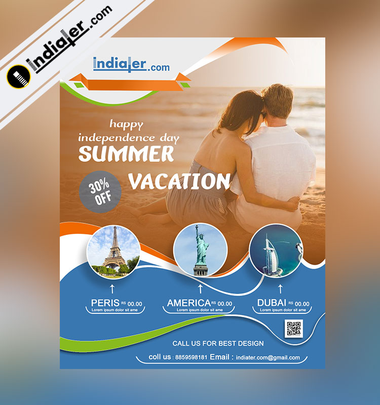 Indiater | Happy Independence Day Summer Vacation Flyer template ...