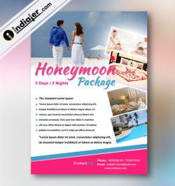 Honeymoon Package Flyer template