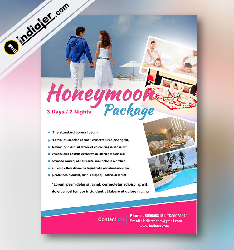 Honeymoon Package Flyer Template