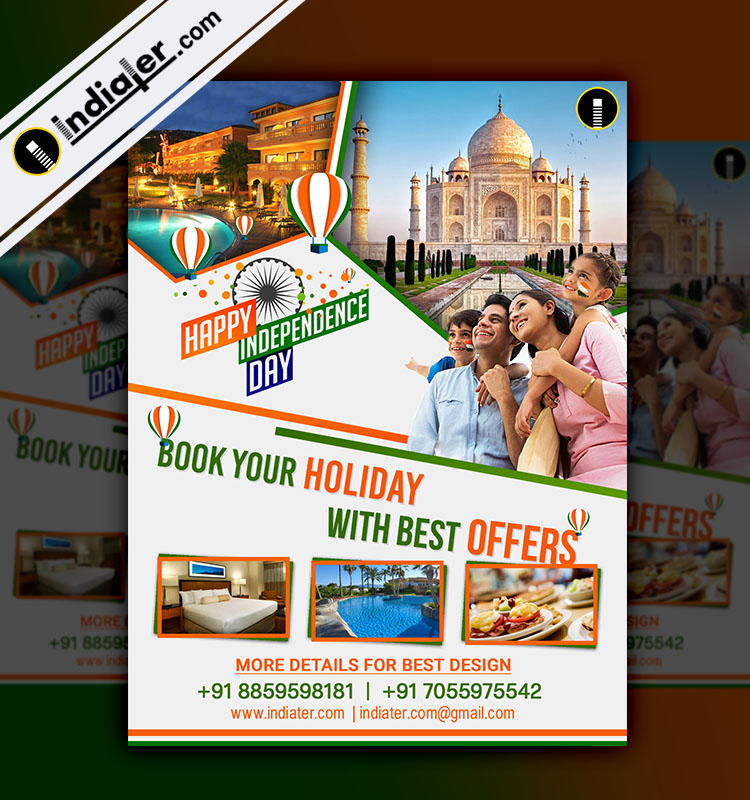 Independence Day Travel Flyer Template V  Indiater