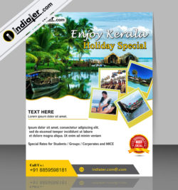 kerala travel flyer template