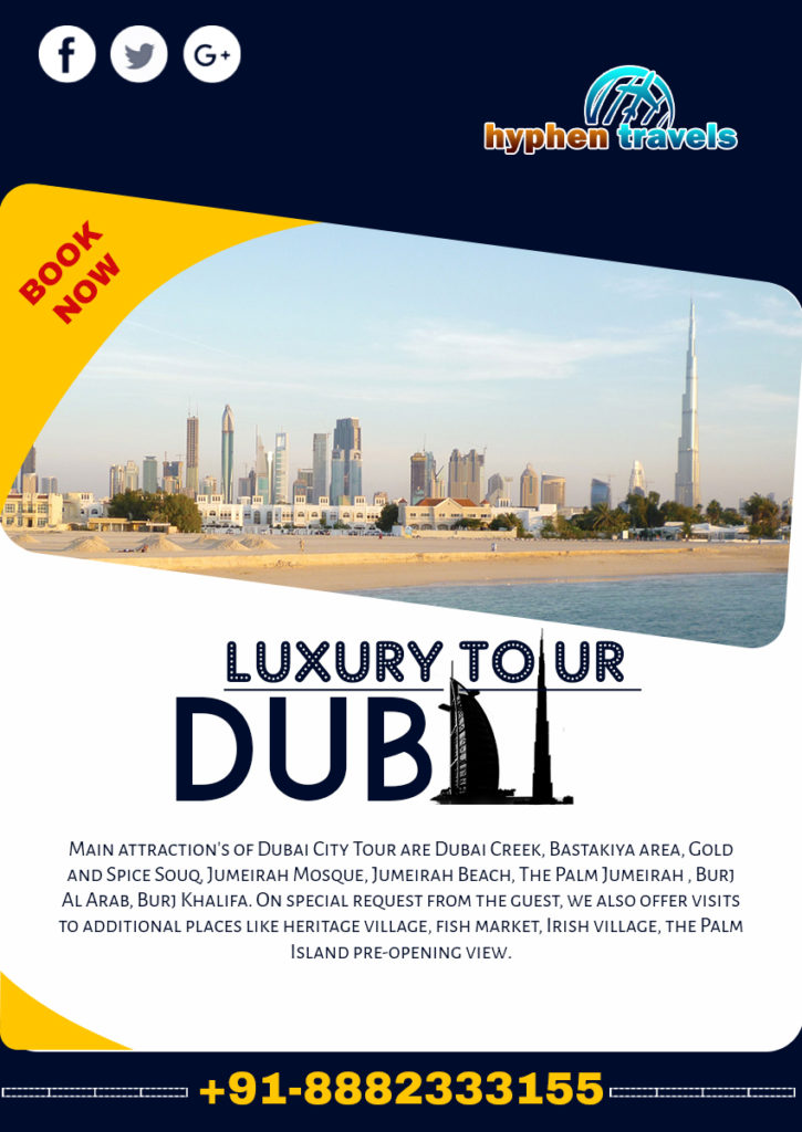 exotic dubai tour and travel flyer template