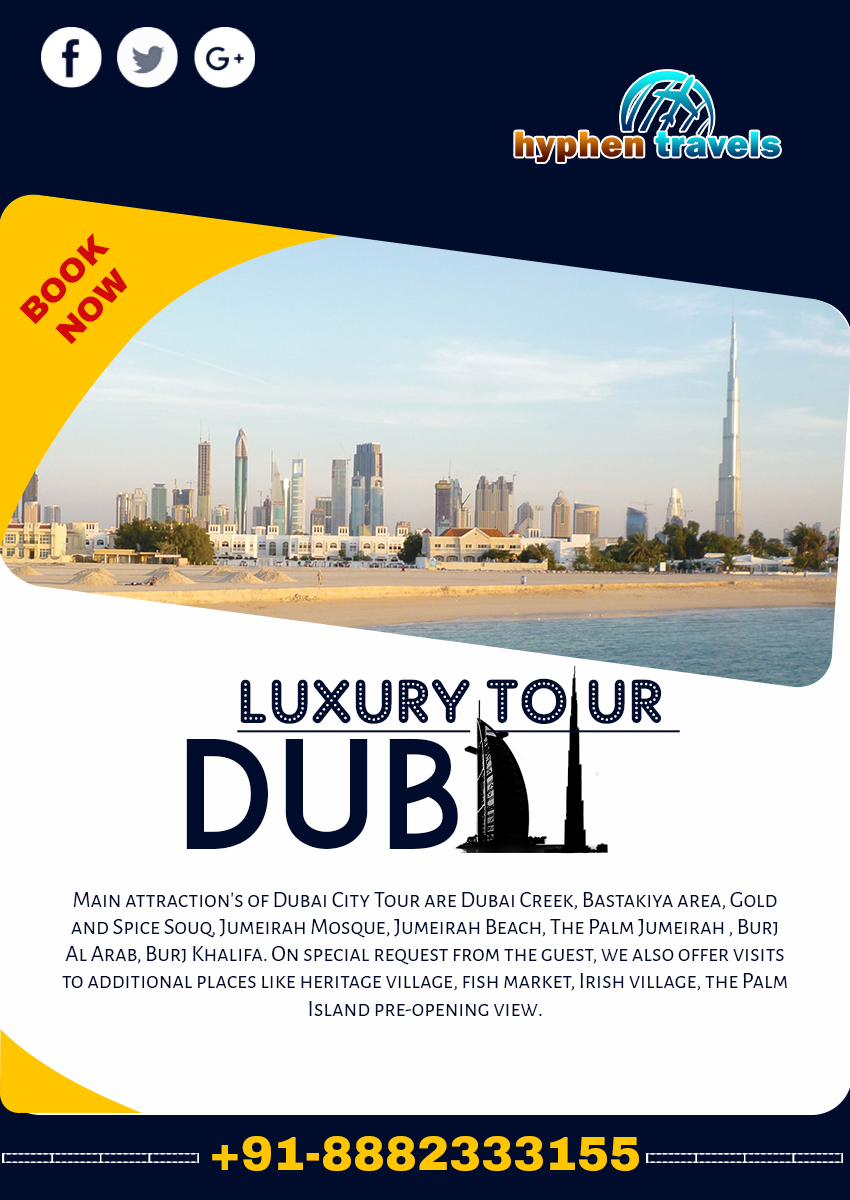 Exotic Dubai Tour And Travel Flyer Template Indiater