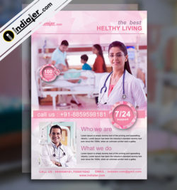 medical flyer template v-1