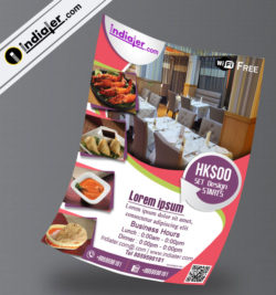 restaurants flyer template v-2