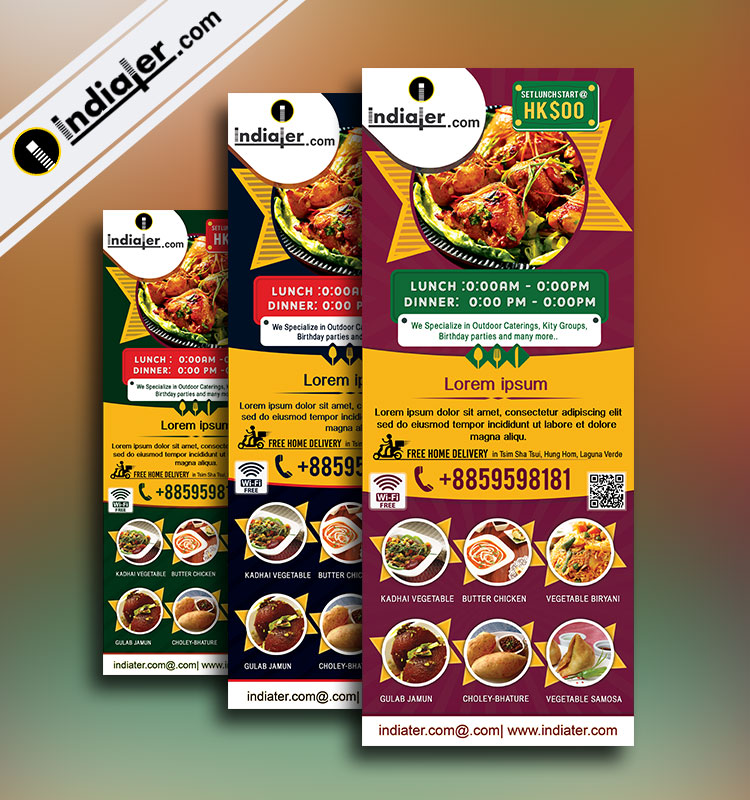 standee designs template for the restaurant  u0026 bar