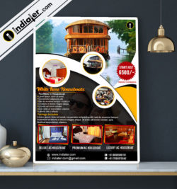 travel-agency-houseboat-package-promotion-psd-flyer