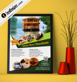 houseboat-promotion-tour-package-flyer-psd