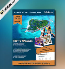 Trip To Maldives Travel Flyer Template