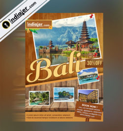 tropical bali travel flyer template