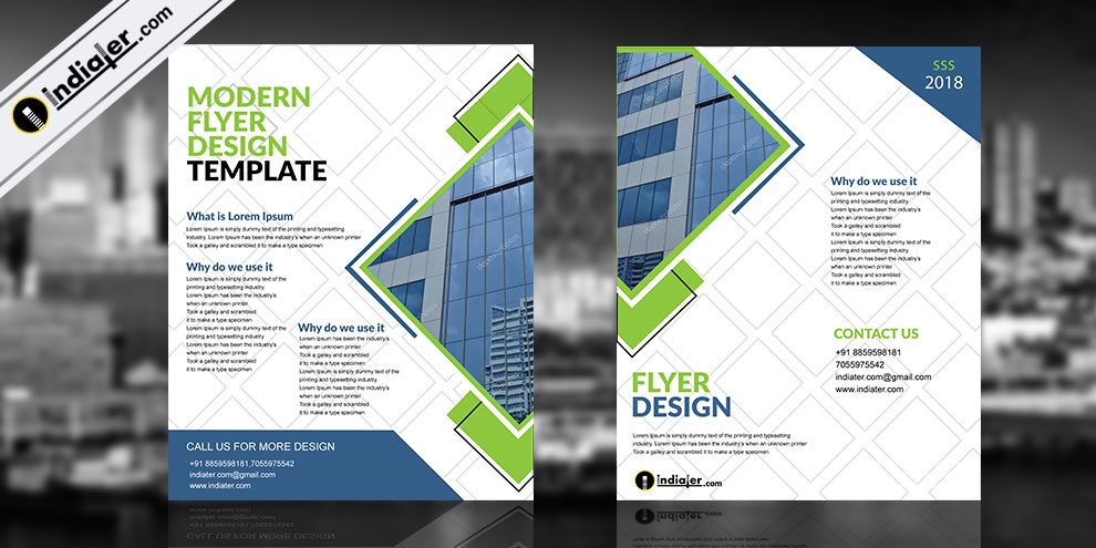 free modern corporate brochure template indiater