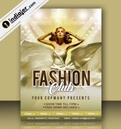 fashion club flyer template
