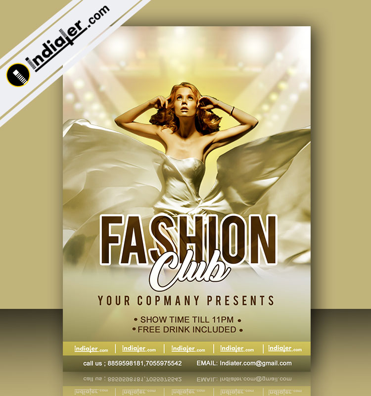 Fashion Club Flyer Template  Indiater