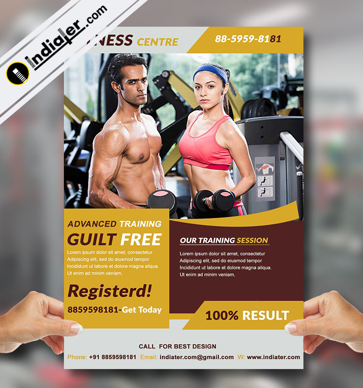 free gym flyer template psd bundle indiater