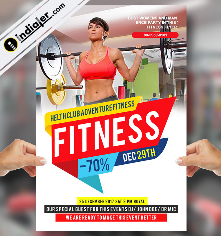 Fitness Gym Flyer Template V   Indiater