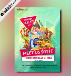 Free Satte Travel Fair Advertising Flyer Template PSD
