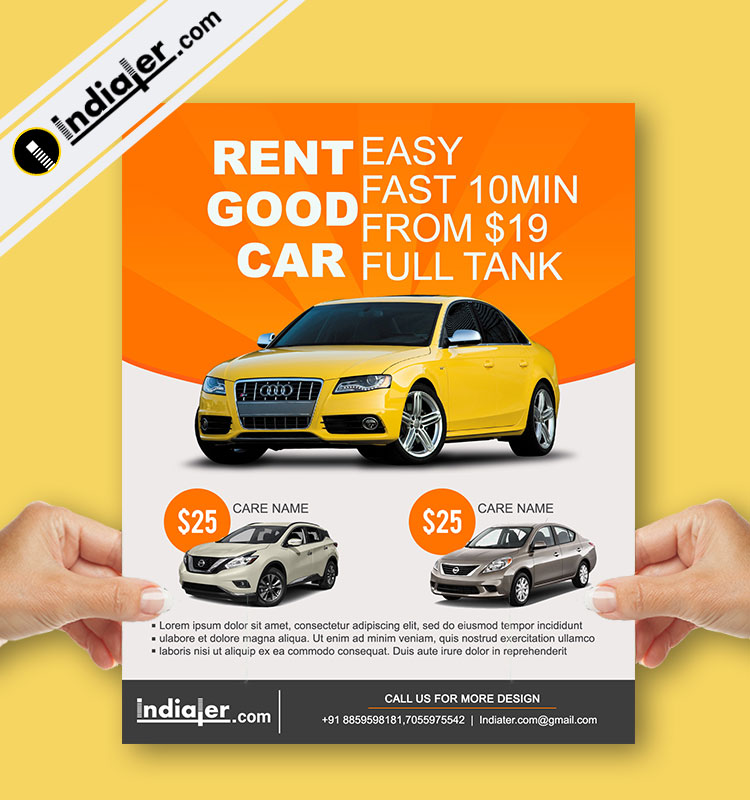 Free Car Rent Dealership Flyer Psd Templates Indiater