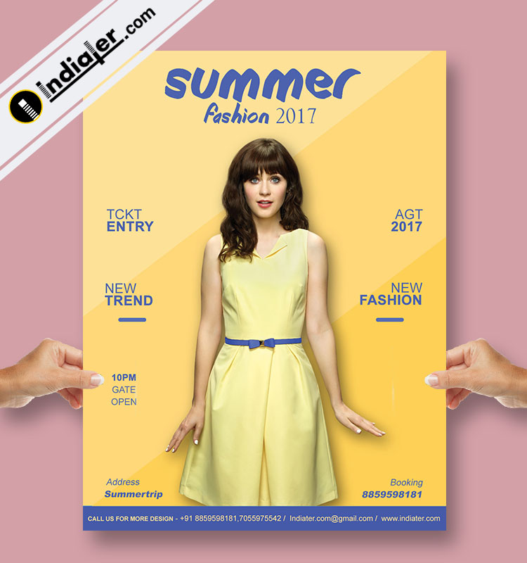 Fashion Retail Sale Flyer Free Psd Template: Free Woman Fashion Retail Sale Flyer PSD