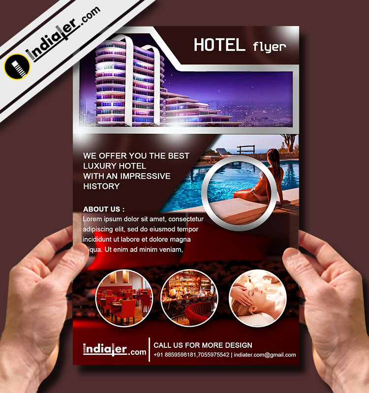 Hotel Travel Flyer Template V  Indiater