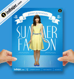 free-summer-fashion-collection-vector-flyer