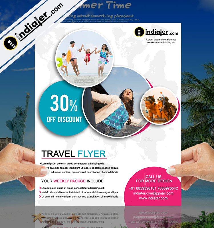 Free Travel Agency Offer Flyer Psd Template Indiater