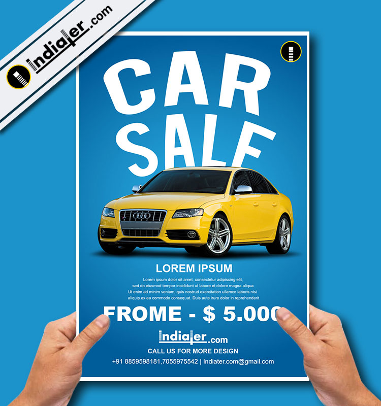 Car Sele Flyer Template  Indiater