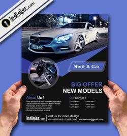 car rent flyer template