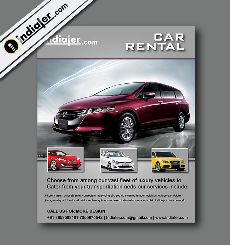 Indiater Rent A Car Flyer Template V2 Indiater