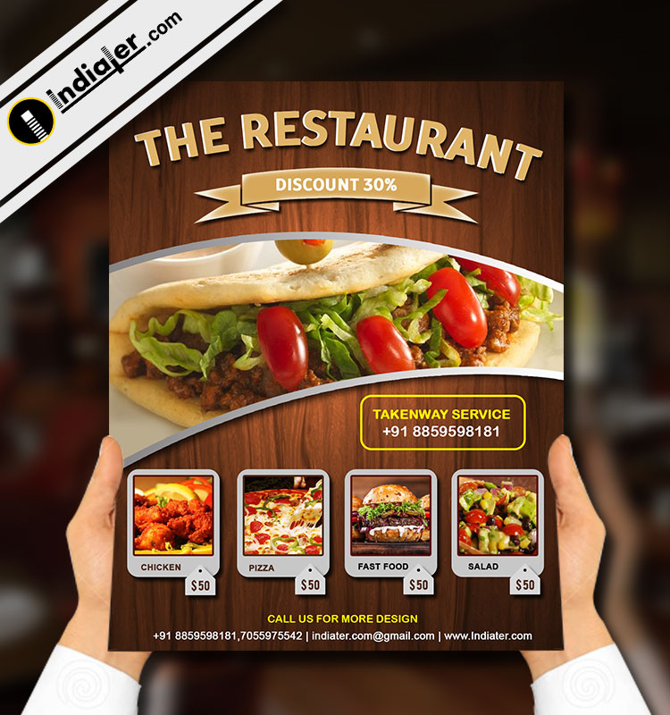 Restaurant Grand Opening Flyer Template Free Psd Indiater