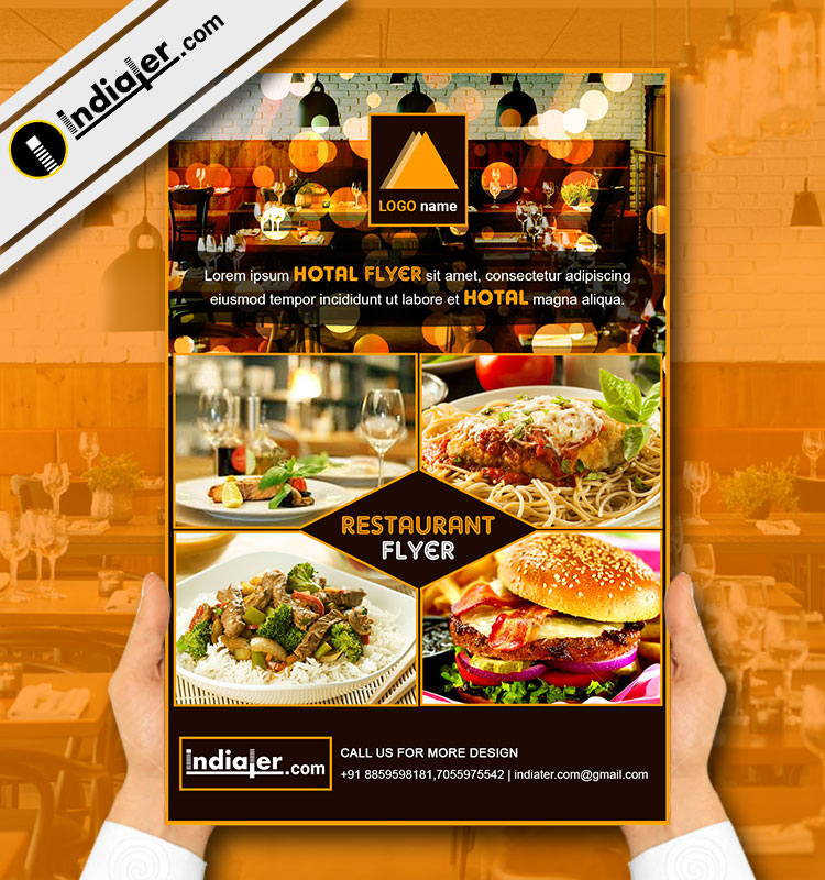 Indiater Restaurant Flyer Template V 6 Indiater