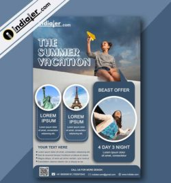 Tour and Travel Agency Flyer Template free