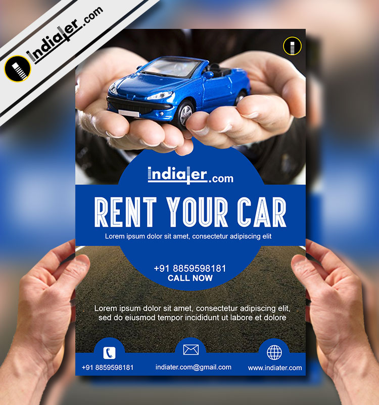 car rent flyer template v2