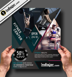 Gym Flyer Template V.1  Free Fitness Flyer Templates