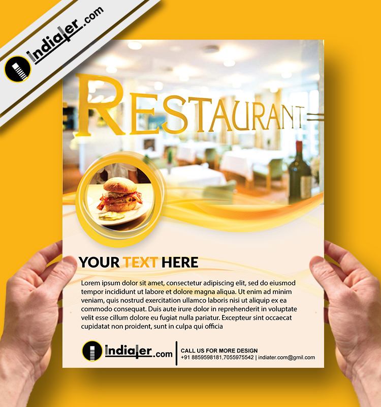 free sample flyers for food business indiater