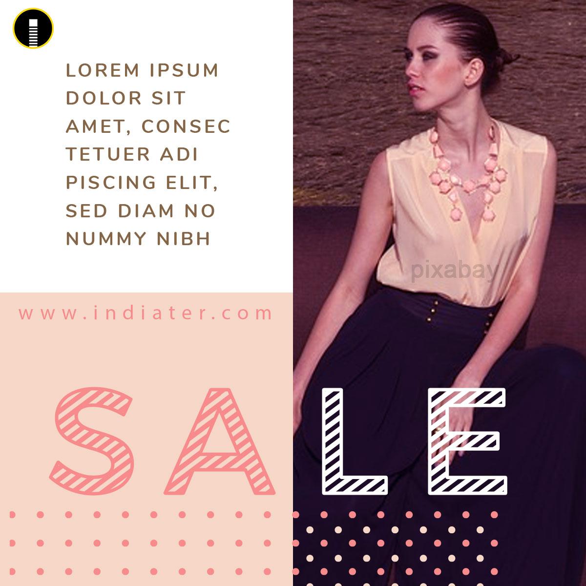 Fashion Sales Social Creatives Template V-6