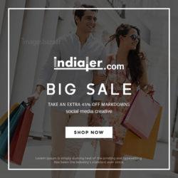 Modern big sale flyer template