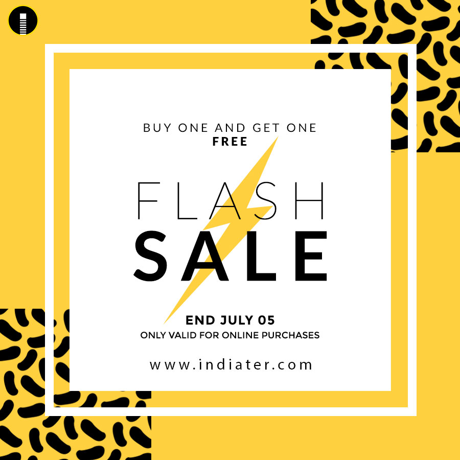 flash sale poster  banner or flyer design