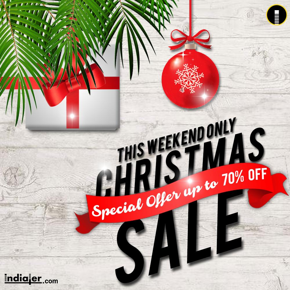christmas sale promotion social media ads template