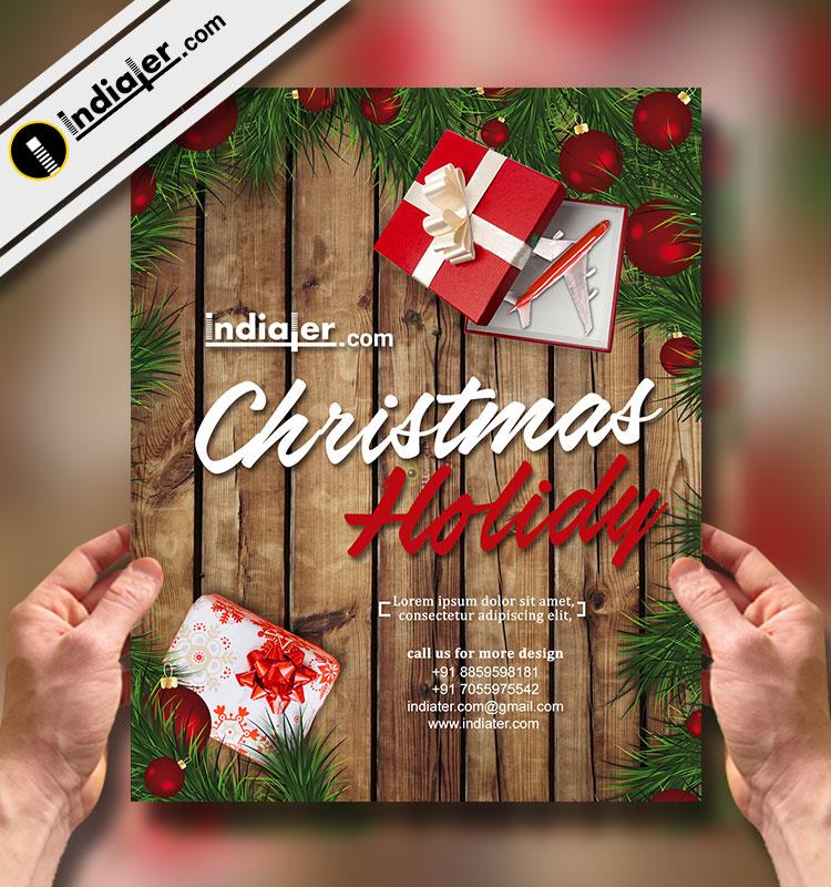 merry christmas travel flyer