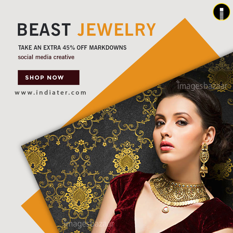 Jewelry Product Promotion Flyer Template Indiater