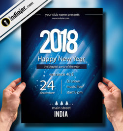 Best New Year party Flyer Print Templates 2018
