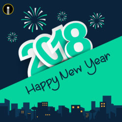 Creative happy new 2018 wishes greeting design template