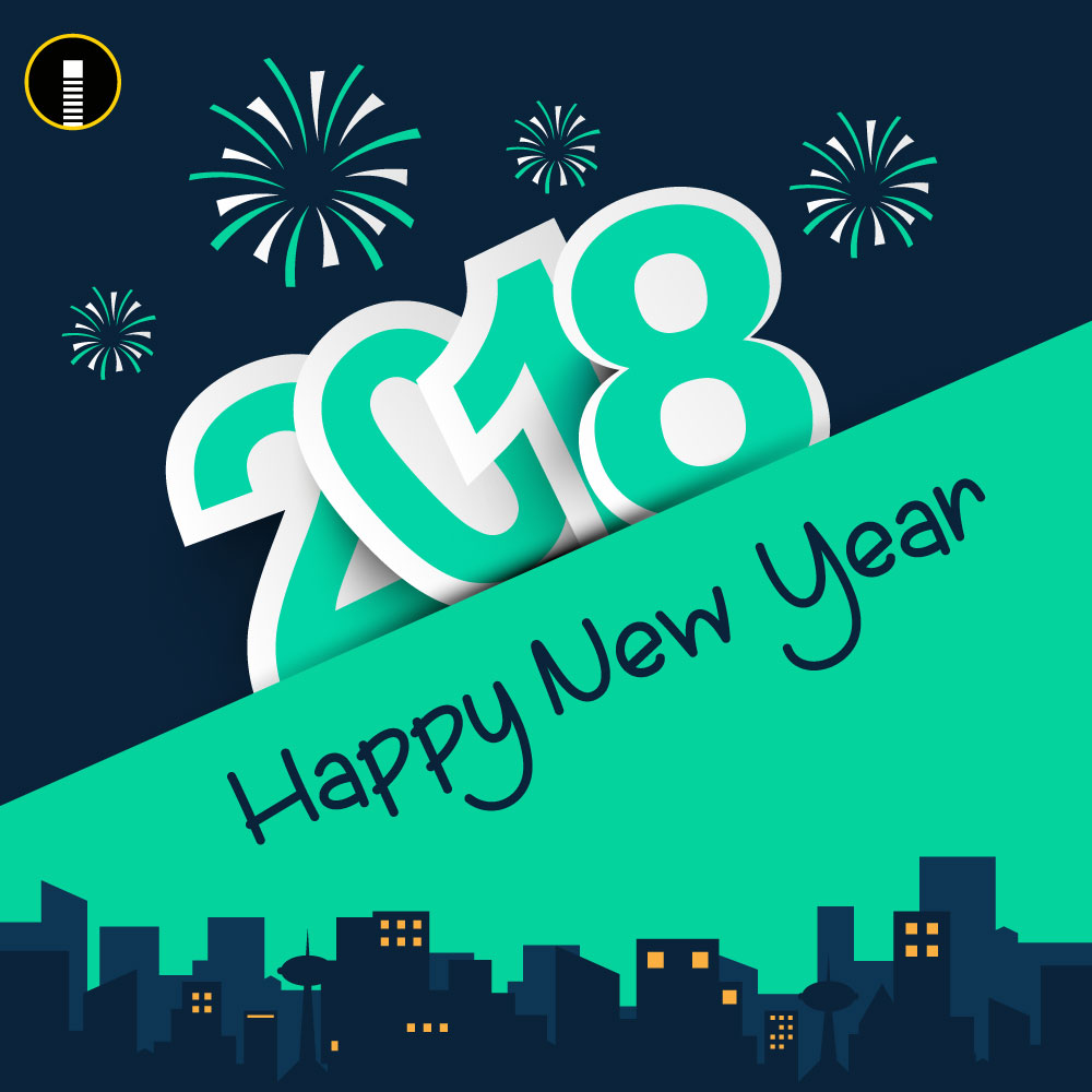 Creative Happy New Year 2018 Wishes Greeting Design Template Indiater