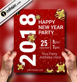 Download the best Free New Year Flyer templates for Photoshop v.1