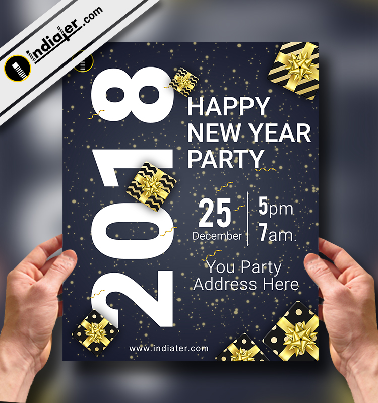download the best free new year flyer templates for photoshop v 2