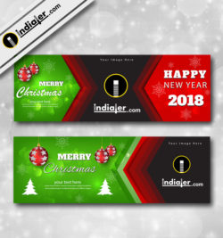 merry christmas banner template design for websites and social networks