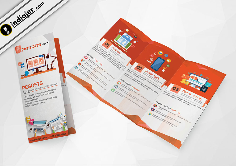 2 fold brochure template psd - multipurpose corporate tri fold brochure psd template