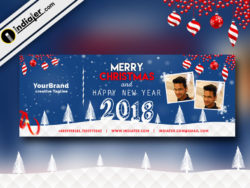 Free Download Merry Christmas Facebook cover banner Template